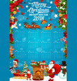 christmas and new year festive calendar template vector image vector image