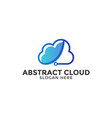 cloud logo design template isolated vector image