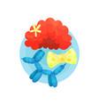 clown icon symbols of funnyman profession cartoon vector image vector image