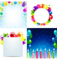 color birthday cards design template balloon vector image vector image