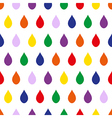 colorful rain white background vector image vector image