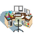 copywriter workplace vector image vector image