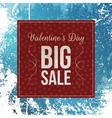 Dark red paper Valentines Day Banner vector image