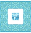 Decorative colorful square frame with lace vector image vector image