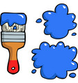 doodle brush with blots vector image