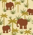 Elephant and palm Military camouflage background vector image