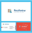 files logo design with tagline front and back vector image vector image