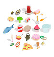 flour food icons set cartoon style vector image vector image