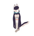 friendly cat and dog hugging sitting together vector image vector image