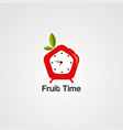 fruit time logo icon element and template vector image
