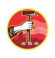 Hand Holding Hammer vector image vector image