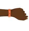 hand with smart band vector image