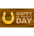 Happy St Patricks Day Golden Horseshoe and