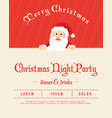 holiday christmas party with red background vector image