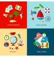 Holiday icons flat set vector image vector image