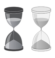 Hourglass dark and light vector image