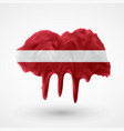 isolated latvian flag painted colors vector image