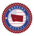 Label sticker cards of State Montana USA vector image vector image