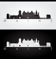 mainz skyline and landmarks silhouette vector image vector image