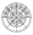 medieval circular panel is a 14th century design vector image vector image