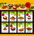 menu price cards for greek cuisine vector image vector image