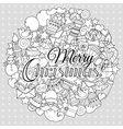 Merry christmas set of xmas monochrome pattern and vector image vector image