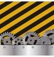 Metal frame on grunge striped cunstruction vector image
