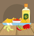 mexican food gastronomy vector image