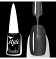 Nail polish on black background vector image vector image