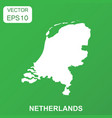 netherlands map icon business concept netherlands vector image vector image