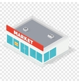 New isometric supermarket building vector image vector image