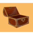 Old chest vector image vector image