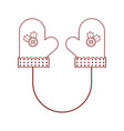 pair of christmas gloves icon vector image