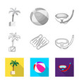 pool and swimming sign set vector image vector image