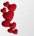 Red paper hearts background vector image vector image
