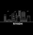 riyadh silhouette skyline saudi arabia - riyadh vector image vector image