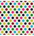 seamless polka dots pattern texture vector image vector image