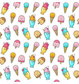 seamless summer pattern with ice cream vector image vector image