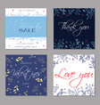 set trendy abstract valentines day templates vector image vector image