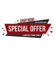 special offer banner design vector image vector image