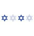 star david icon jewish jew hexagram icon vector image vector image
