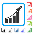 startup sales chart framed icon vector image vector image
