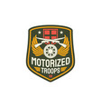 troops motorized infantry army insignia rifle vector image vector image