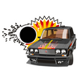 tuned car vector image vector image