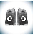 Two audio speakers vector image vector image