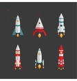 Types of rockets Launching to space vector image