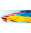 USA UKRAINE FLAG vector image