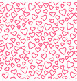 valentine day pink doodle hearts seamless vector image vector image