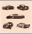 vintage car set 5 high quality image the vector image