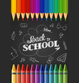 whiteboard colored pencilscrayon back to school vector image vector image